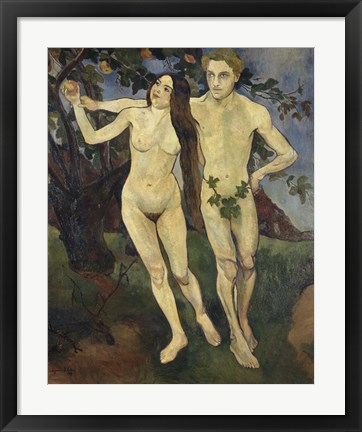 Framed Adam and Eve, 1979 Print