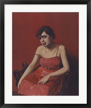 Framed Romanian in a Red Dress, 1924 Print
