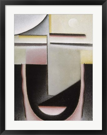 Framed Abstract Head: Dawn, 1928 Print