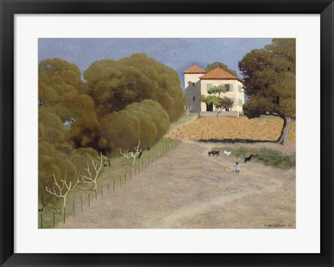 Framed House with Red Roof, 1924 Print