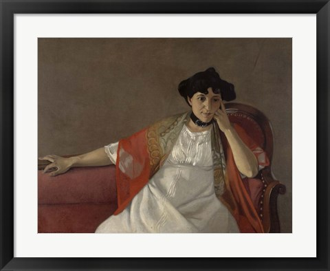 Framed Portrait of the Artist's Wife, 1905 Print