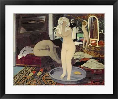 Framed Women at Their Toilette, 1897 Print