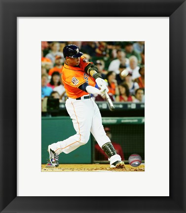 Framed Carlos Gomez 2015 Action Print