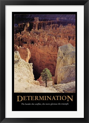 Framed Determination Print