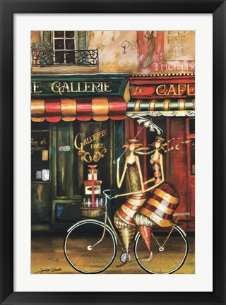 Framed Girlfriends in Paris Print