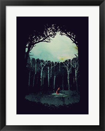 Framed Deep In The Forest Print