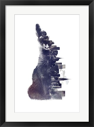 Framed Fox From The City Print