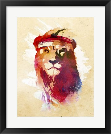 Framed Gym Lion Print