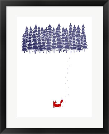 Framed Alone In The Forest Print