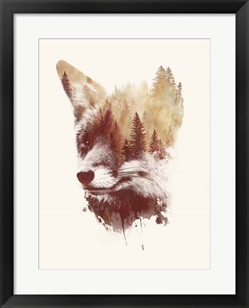 Framed Blind Fox Print