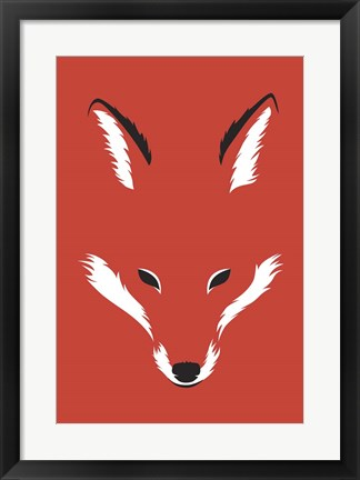 Framed Foxy Shape Print