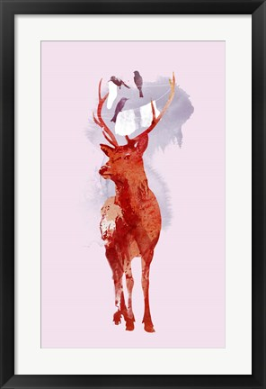 Framed Useless Deer Print