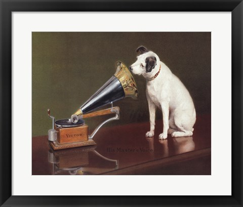 Framed His Master's Voice Print