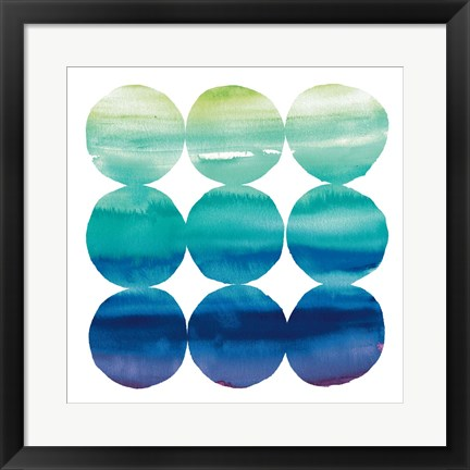 Framed Summer Dots III Print