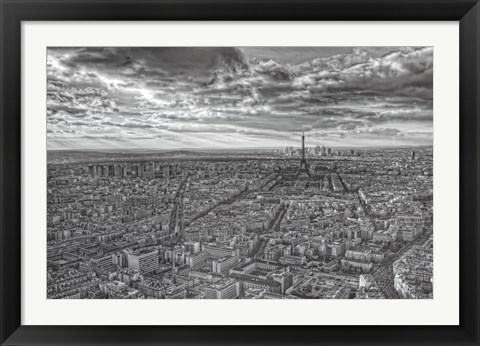 Framed Overlooking Paris Print