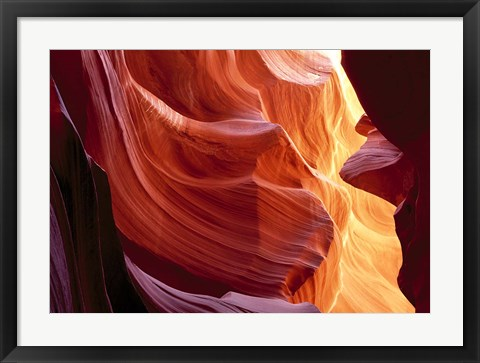 Framed Slot Canyon, Antelope Canyon, Arizona Print