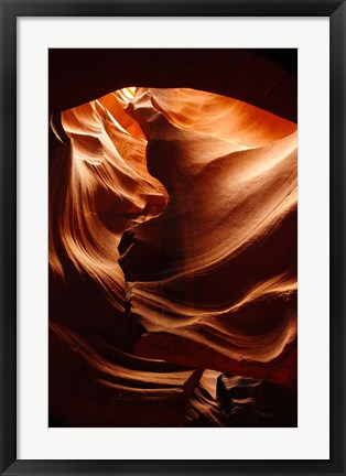 Framed Shaft of Light, Upper Antelope Canyon 3 Print