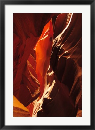 Framed Slot Canyon, Upper Antelope Canyon, Arizona Print
