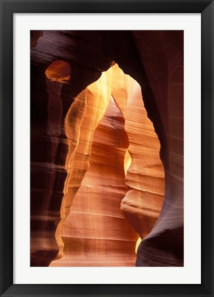 Framed Colorful Sandstone in Antelope Canyon, near Page, Arizona Print
