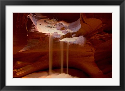 Framed Upper Antelope Canyon, Rocky Ledge Print