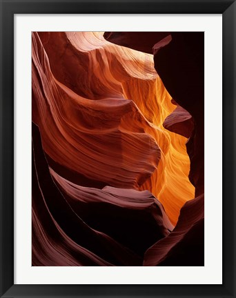 Framed Antelope Canyon, Navajo Tribal Land, Arizona Print