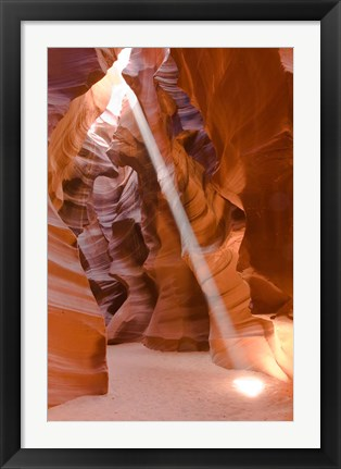 Framed Sunbeam Illuminates Upper Antelope Canyon Print