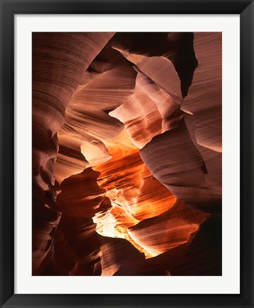 Framed Red Sandstone Walls, Lower Antelope Canyon (Color) Print