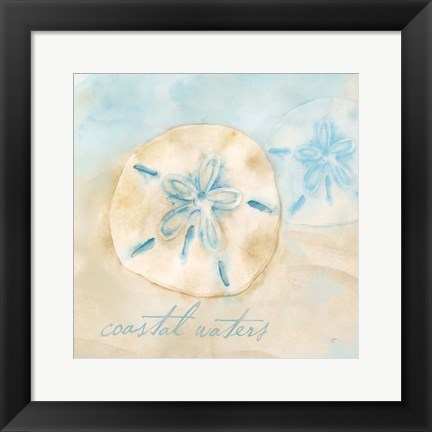 Framed Watercolor Shell Sentiments IV Print
