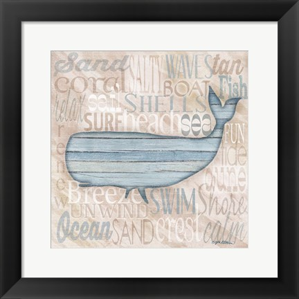 Framed Driftwood Beach Icons II Print