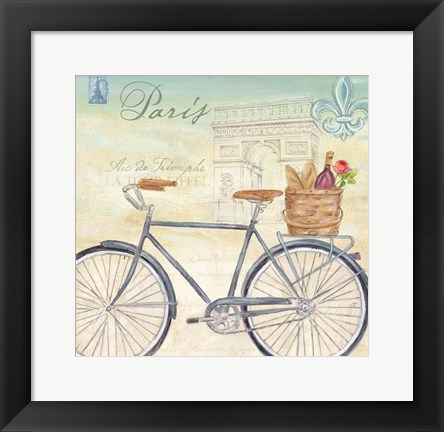 Framed Paris Bike Tour II Print