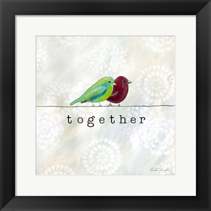 Framed Birds of a Feather Square I Print