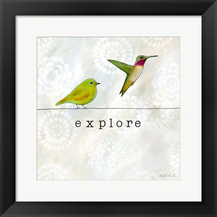 Framed Birds of a Feather Square III Print
