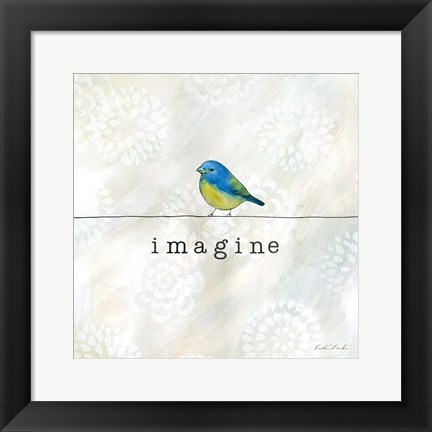 Framed Birds of a Feather Square IV Print