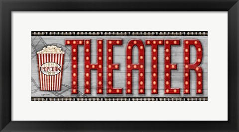 Framed Movie Marquee Panel II (Theater) Print