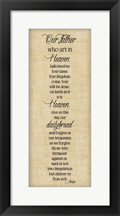 Framed Bible Verse Panel III (Our Father) Print