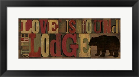 Framed Love at the Lodge Panel Print