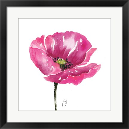 Framed Poppies Tempo I Print
