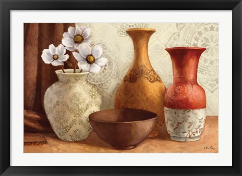 Framed Gentle Spice Vessels Print