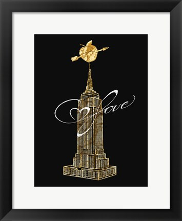 Framed Empire Golden Love Print