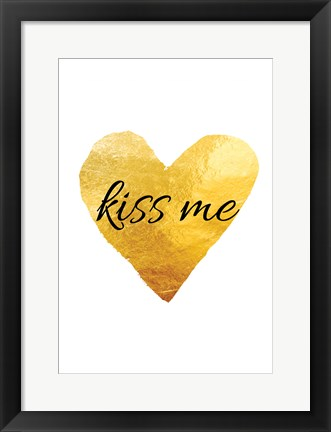 Framed Kiss Me Print