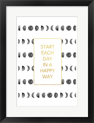 Framed Happy Way Print