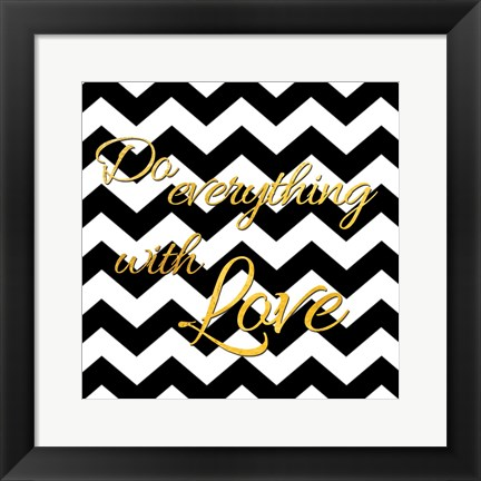 Framed Golden Love Print