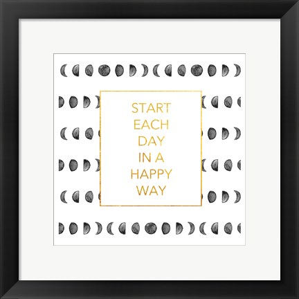 Framed Happy Way (Square) Print