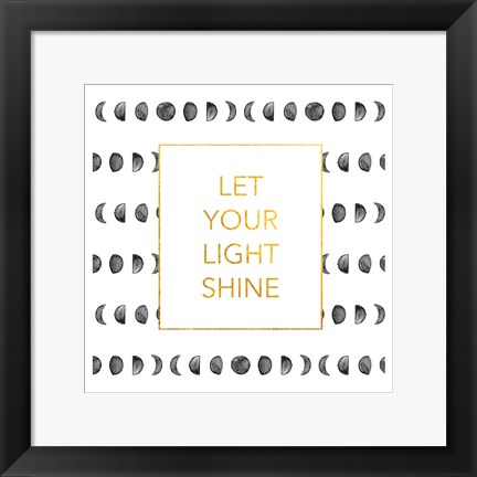 Framed Light Shine (Square) Print