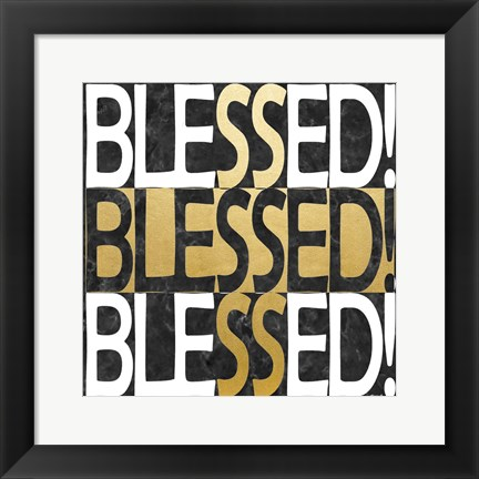 Framed Blessed Print