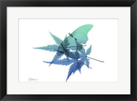 Framed E171 Blue Turq Print