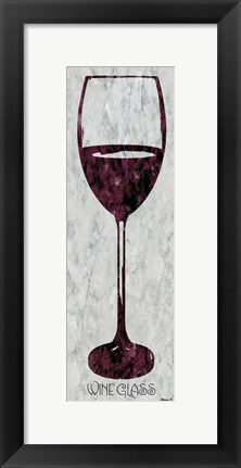Framed Wine Glass 4 Print
