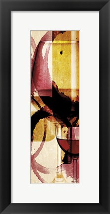 Framed Wine 6 Print