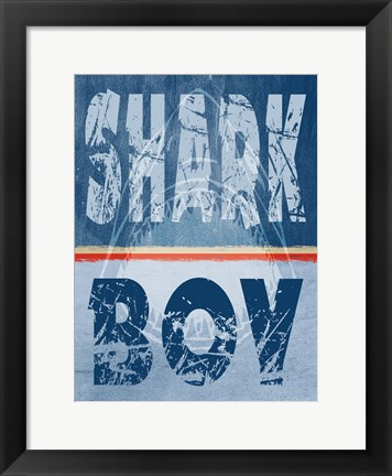 Framed Shark 7 Print