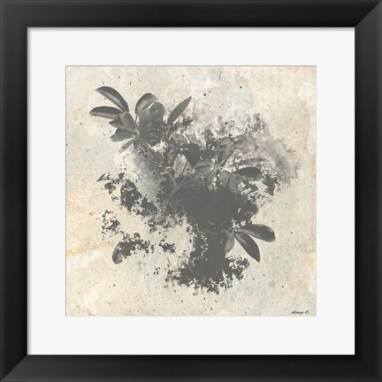 Framed Abstract Plant Print